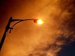 evening sky over a street lamp