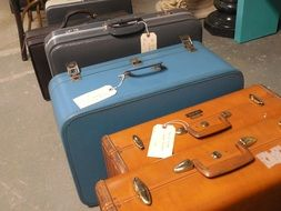 vintage colorful luggages for journey