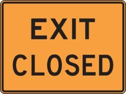 exit closed sign drawing