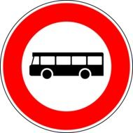 busses traffic sign drawing