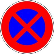 round prohibition sign stop