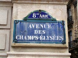 sign on a city street in Paris