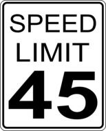 speed limits sign drawing