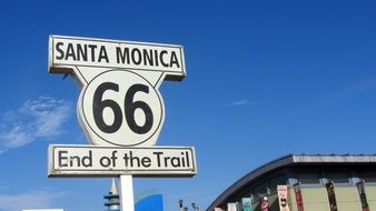 route 66 santa monica drawing