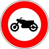 no motorcycles traffic sign