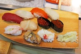 Different kinds of sushi