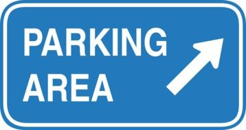 blue sign parking zone