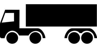 drawing of a black truck