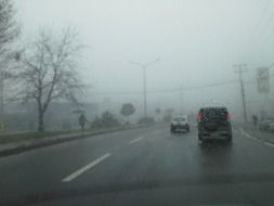 highway in bad weather
