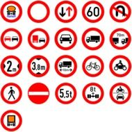 drawn informational road signs