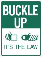 safety belt warning sign