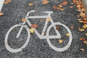 """Bicycle path mark"