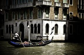 Gondola on the canals of venice