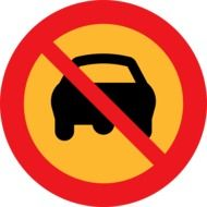 """No driving"" sign clipart"