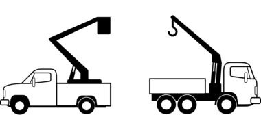 isolated truck cranes