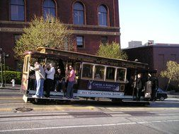 Retro tram in San Francisco, California