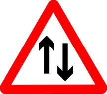 sign traffic two way drawing