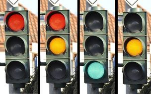 Traffic lights with different signals