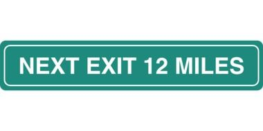 next exit 12 miles drawing