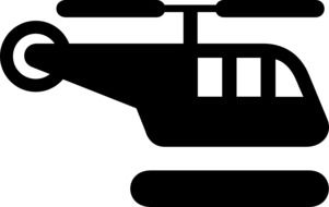 helicopter silhouette drawing