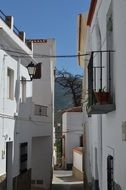 narrow city street in andalusia