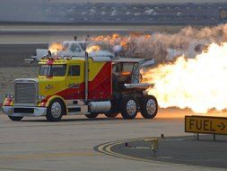 truck speed nozzle jet engine fire