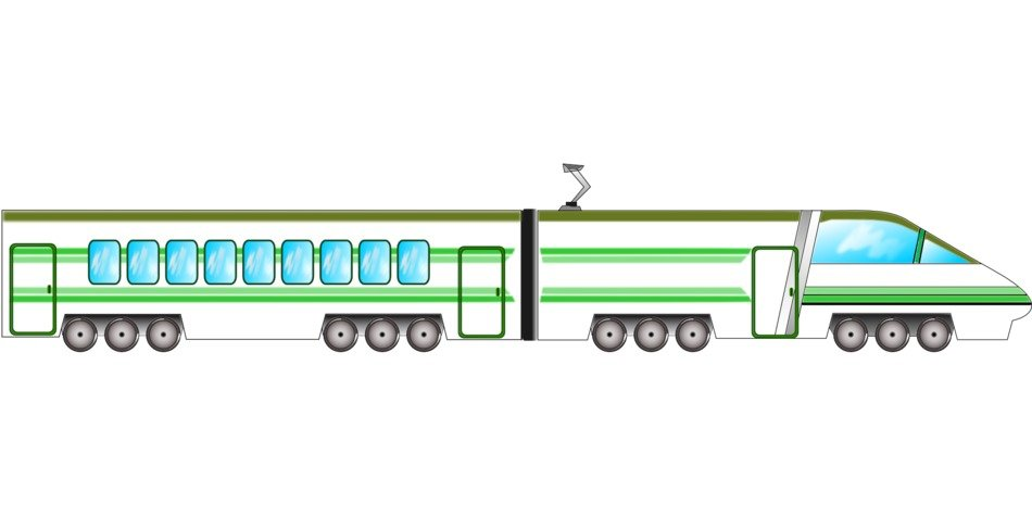 High speed train clipart