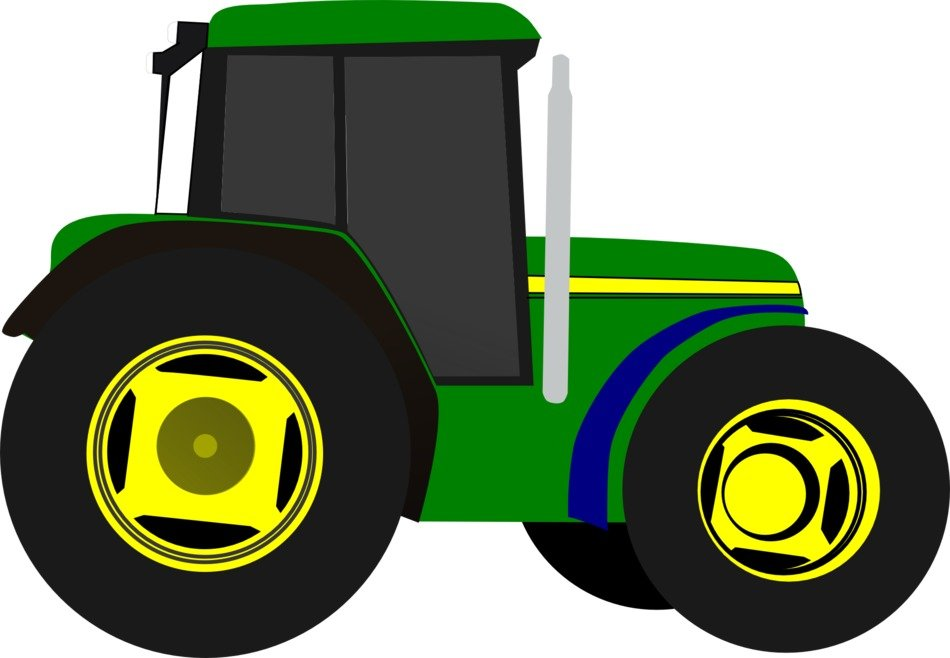 green tractor farm vehicle vector drawing