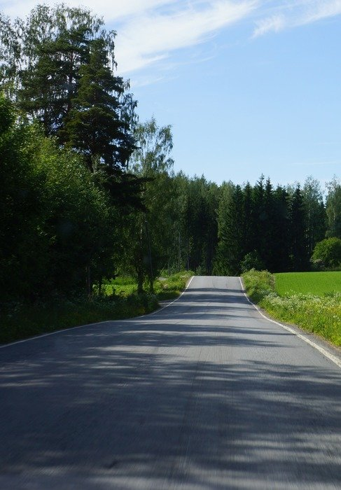 finnish countryside road