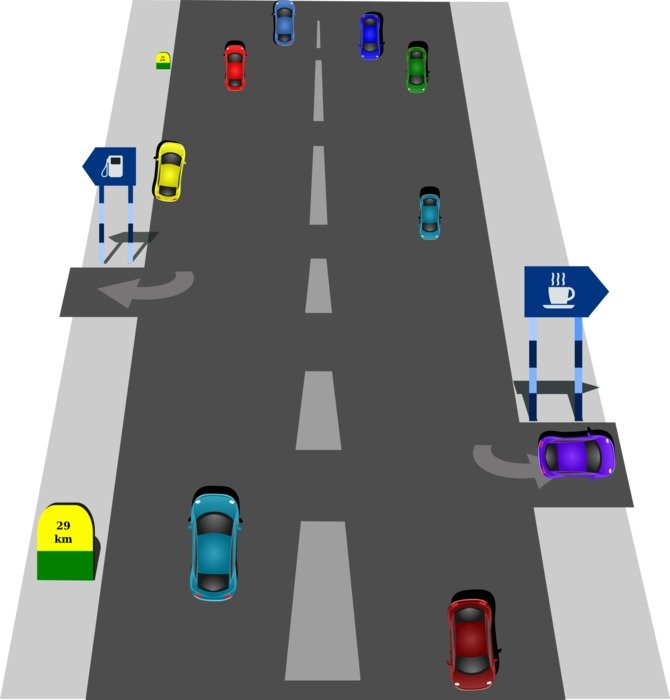 drawing traffic rules