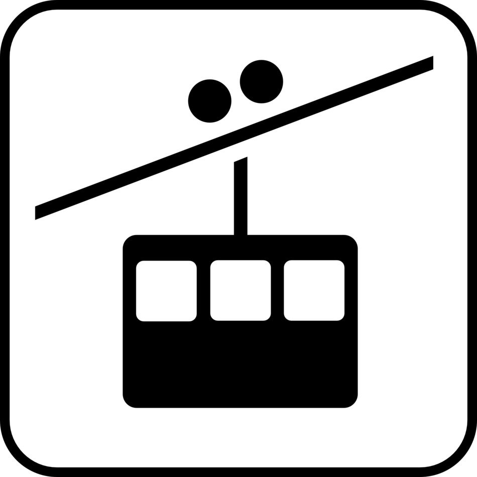 cable car road sign