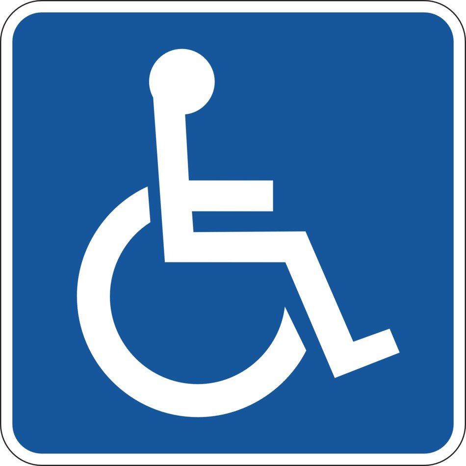 wheelchair sign, parking for disabled people