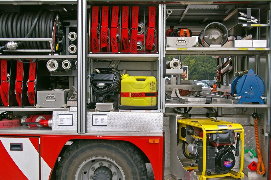 Contents of the fire engine