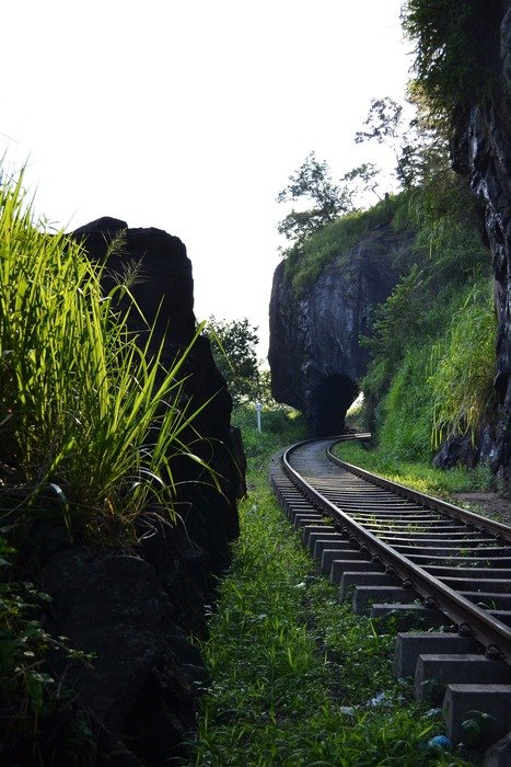 landscape of rail road in mawanella