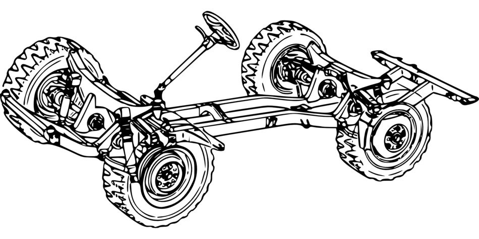 chassis frame of automobile, drawing