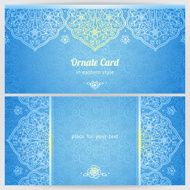 Vintage ornate cards in oriental style N53