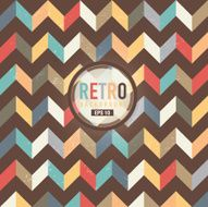 Textured and colorful retro chevron pattern background N4