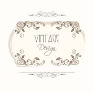 Beautiful floral decorated vintage frame