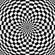 Abstract illusion Checkered Background Black and white Op art Vector