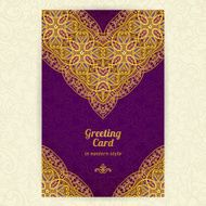 Vintage ornate cards in oriental style N56