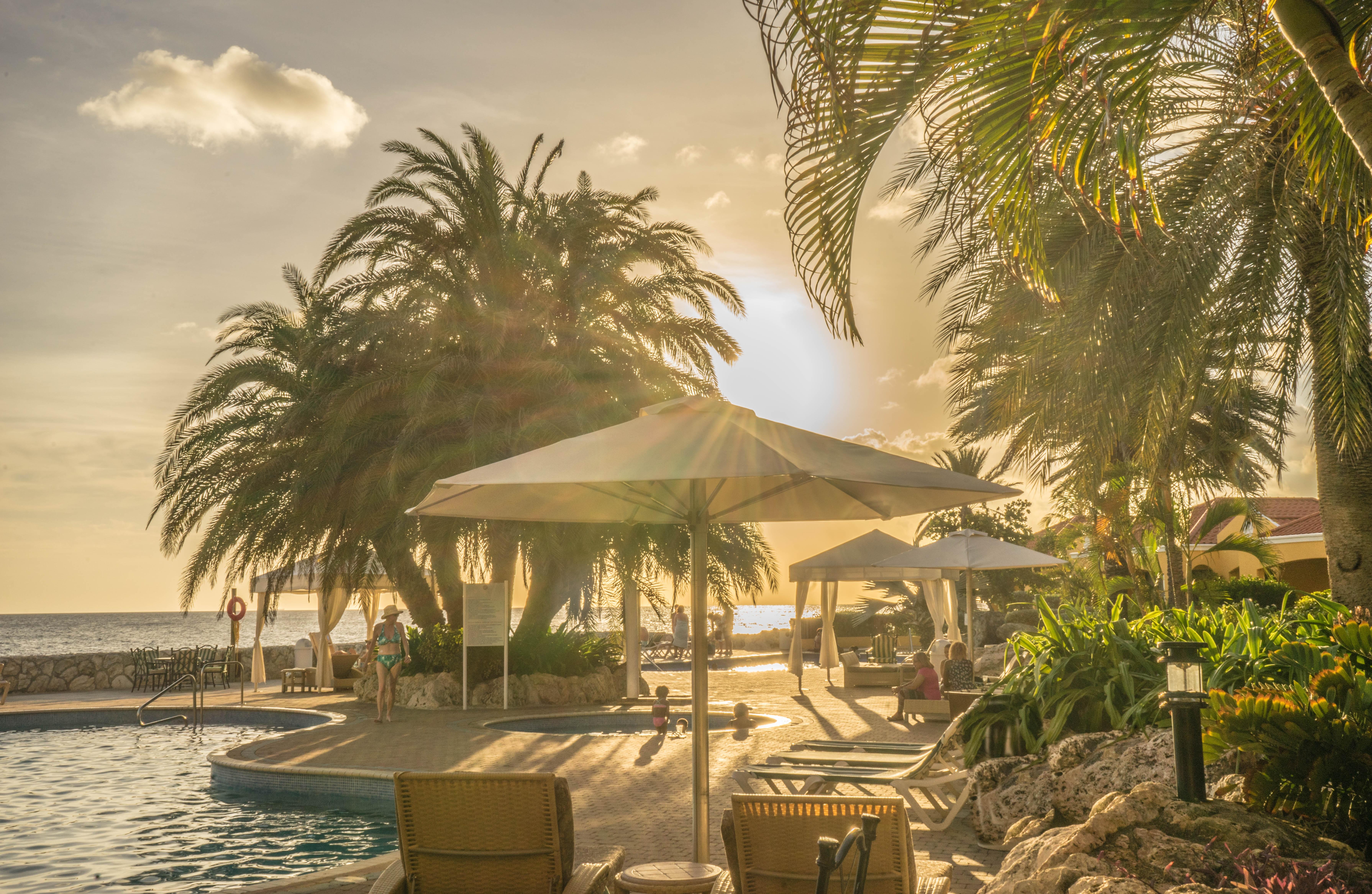 Sunset Cabana Beach Vacation Summer Relax