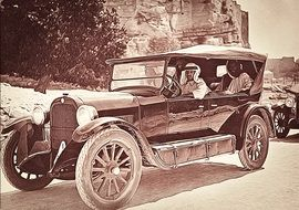 Old photo of the antique car