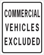 notice commercial vehicles excluded