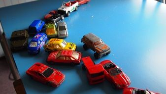 variety of car models in the children\'s room