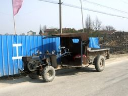 parked tractor in china