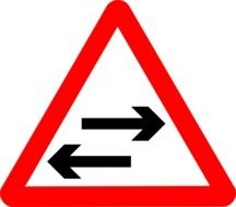 traffic sign two-way road