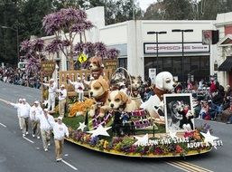 Parade on the street in California
