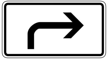 turn right sign