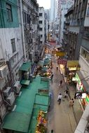 top view of street, china, hong kong