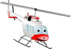 helicopter cartoon drawing